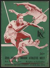 1958 Annual K of C Indoor Athletic Meet Program, NYC