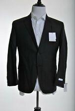 Calvin Klein Mens Slim Fit Dark Brown Textured 2 Button 100% Wool Sportcoat