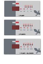 SpaBuilders & Gecko topside control keypad OVERLAY-DECAL for TSC-18 & K-18