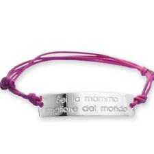 Braccialetto argento sei la mamma migliore... Idea regalo festa della mamma
