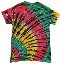 Tie dye T Shirt corner rasta , all sizes, Hand dyed in the UK