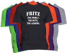 FRITZ Last Name T Shirt Custom Name T Shirt Family Reunion Family Name Tee