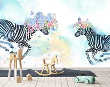 3D Interesting Zebra 45 Wall Paper Exclusive MXY Wallpaper Mural Decal Indoor AJ