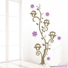 PEGATINA PARED Buho-cirrus Búhos Flor Flores Búho Zarcillo Adhesivo de pared