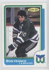 1986-87 O-Pee-Chee Blank Back #N/A Ron Francis Hartford Whalers Hockey Card