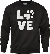 Love Paw Print - Cat Dog Pet Lover Youth & Mens Sweatshirt