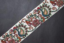"Jasdee Vintage Border Trim 2-1/2"" Width Embroidery Work On Silk By Yard  #A1274"