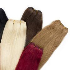 100% Echthaar Weft Tressen 100gramm Haarverlängerung Extensions Echthaartresse