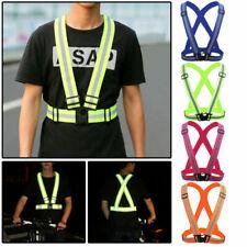 Hi Viz Vest High Vis Safety Visibility Tank Jacket Reflective Strap Belts Braces