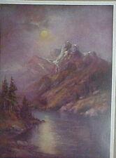 Moon, Mountain, Lake, Landscape by Chandler