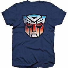 Transformers Autobot logotipo Camiseta Mangas Cortas Azul Nuevo
