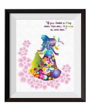 Uhomate Princess Aurora Sleeping Beauty Poster Art Print Nursery Wall Decor C014