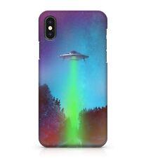 Flying Saucer Nave Espacial Verde radiante Starlight Nova Funda de teléfono Galaxy Sky