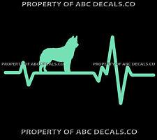 HEART BEAT LINE DOG SIBERIAN HUSKY Puppy Huskies Adoption Rescue CAR VINYL DECAL