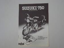 advertising Pubblicità 1974 MOTO SUZUKI GT 750 POLISTIL