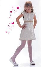 blanc transparent collant communion demoiselle d'honneur fille fête COLLANTS T6
