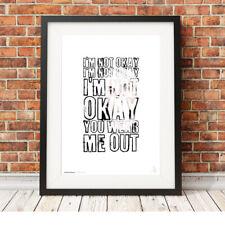 MY CHEMICAL ROMANCE ❤ Gerard Way ❤ MCR lyrics poster art print in 5 sizes #10
