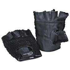 Netzhandschuhe Strick-Leder. Fitness, Fahrrad Training Handschuhe, Gr. S - XXL