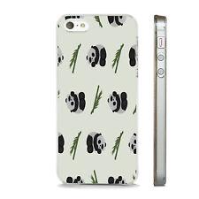 CUTE PANDA BAMBOO  PRINT PHONE CASE FITS APPLE IPHONE 4 5 6 7 8 SE PLUS X XS