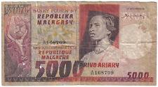 MADAGASCAR 5000 FRANCS 1974 PICK 66 LOOK SCANS