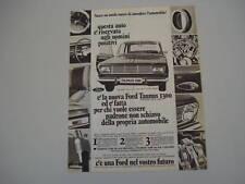 advertising Pubblicità 1966 FORD TAUNUS 15M 15 M