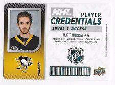 17/18 UD MVP NHL PLAYER CREDENTIALS LEVEL 1 ACCESS (#NHLAG-NHLWS) U-Pick List
