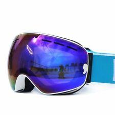 Skiing Googles For Men UV400 Anti-fog Double Layers Big Lens Ski Mask Glasses