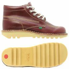 KICKERS KICK HI para hombres Zapatos Bota de color rojo oscuro Francia Caminar Smart Casual