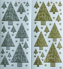 Christmas Trees & Stars PEEL OFF STICKERS Tree Filigree Small Large