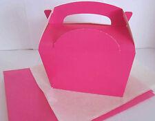 Rose faveur pique-nique parti boîtes repas-Boîte Cadeau alimentaire-avec papier tissu x2