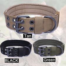 HEAVY DUTY Military Dog Collar Handle Medium Large Plastic Buckle M-XL