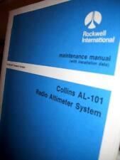 Collins AL-101 Radio Altimeter Install, operation and ramp maintenance Manual