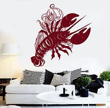 Vinyl Wall Decal Lobster Sea Animal Art Decor For Restaurant Stickers (1227ig)