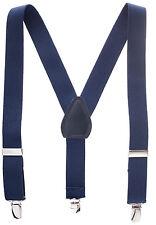 """New 1"""" Navy Suspenders Baby, Toddlers, Kids, Boys Elastic Adjustable - Made in U"""