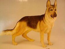 Brand New Leonardo Black & Brown Alsation German Shepherd Dog Figurine Statue