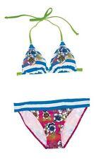 2Tlg. Olympia Bandeau Bikini Set Gr.36,38,42 Cup-A NEU Blau/Bunt Damen Softcups