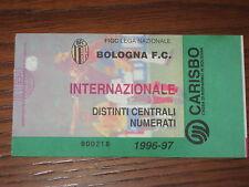 BOLOGNA INTER BIGLIETTO TICKET 1996/97 SERIE A