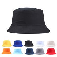 Portable Solid Color Folding Fisherman Sun Hat Outdoor Men Women Bucket Cap Perf