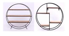 Forma rotonda SCAFFALI in METALLO Wire & legno stile industriale Storage Rack HOME NUOVO