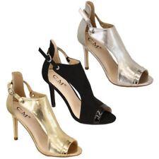 Sandali da Donna Donna Cinturino Tacco a Spillo Fibbia Open Toe Scarpe Lucide
