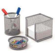 escritorio-set Oficina de drahtmetall Cubilete para bolígrafos, FICHERO 3 piezas