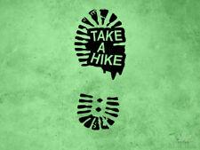 Hiking Decal | Take a Hike | Trail Boot Footprint | Vinyl Sticker & Wall Decals