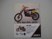 advertising Pubblicità 1979 MOTO APRILIA RC 125