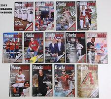 2013 Arizona Diamondbacks Dbacks Insider Programs #1 - #13 Your Choice or All