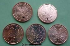 Deutschland 5 x 2 Euro Cent Münzen A+D+F+G+J Euromünzen coins Auswahl Jahre