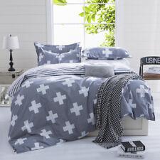 Cross Doona Duvet Quilt Cover Set Single/Queen/King Size Pillow Cases Bed Linen