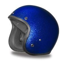 Daytona Helmet CRUISER- BLUE MET Open Face DOT Motorcycle Helmets Vespa DC7-BL