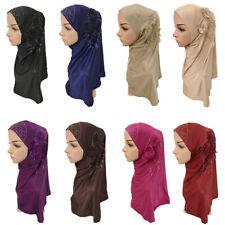 Ramadan Women Muslim Hijab Scarf Turban Cap Wrap Shawl Rhinestone Head Cover Hat