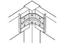 4er Set Winkel, Beschlag für Zargen, Tischbein., Tischwinkel, Höhe 70mm und 40mm