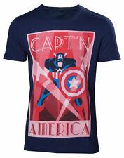 Marvel Comics Retro T-shirt Capt'n America men's Blue